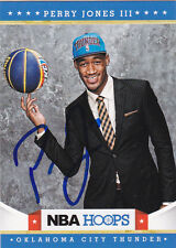 PERRY JONES III OKLAHOMA CITY THUNDER SIGNED PANINI NBA HOOPS CARD BAYLOR BEARS