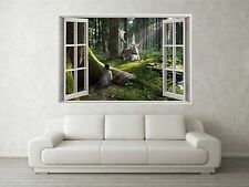 Forest Scene 2 3D Full Colour Window Home Wall Art Stickers Mural Decal