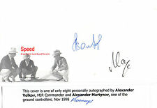 SPEED COVER HANDSIGNED BY COSMONAUT ALEXANDER VOLKOV & ALEXANDER MARTYNOV