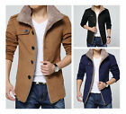 2015 New Men's Slim Parka Fleece Winter Warm Jacket Trench Coat Casual Overcoat