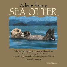 ADVICE FROM A SEA OTTER MEDIUM ADULT T-SHIRT