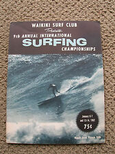 Vintage Surfer surfing magazine surfboard longboard waikiki surf club 1962 9th