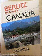 CANADA   BERLITZ  MAXI Guide de voyage