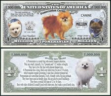 Lot of 100 BILLS - Pomeranian Dog Million w/ Puppy & Adult Pics, Facts on Back