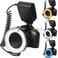 RF-550D Macro Ring Continuous 48-LED Light for Canon Nikon Sigma Lens w/ Big LCD
