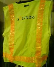 Bright yellow safety jacket from Solyndra Solar panel maker original/collectible