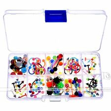 100x Lots UV Ball Eyebrow Navel Belly Tongue Nose Lip Ring Body Piercing Jewelry