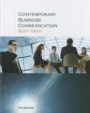 Contemporary Business Communication 7th Seveth Edition by Scott Ober
