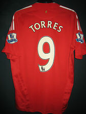Liverpool 2008-10 EPL ADIDAS Formotion Player Issue Home Shirt Fernando TORRES