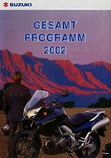 Prospekt Suzuki Motorräder 2002 DR-Z 400E Burgman AN SV650 Freewind XF 650 GS500