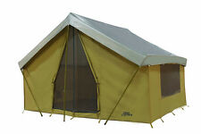 NEW  TENT 14' x 10' CANVAS CABIN TENT with CUSTOM FLY COVER FREE SHIP