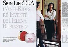 PUBLICITE ADVERTISING 045 1990 HELENA RUBINSTEIN l'anti-rides (2 pages)