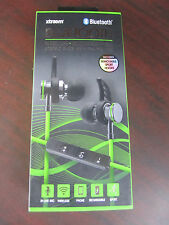 XTRAEM BLUETOOTH Wireless Rechargeable Stereo Buds HEADPHONES w/ in-line mic NEW