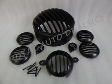 ROYAL ENFIELD CLASSIC ALL GRILL SET / PROTECTOR BLACK POWDER COATED NEW