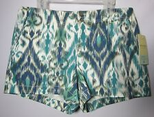 NWT Sonoma Life + Style Modern Fit Stretch Shorts Blue Lake Sze 16