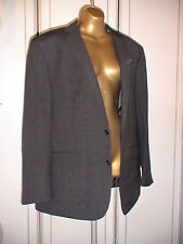 Ben Sherman 36R Kings Tailored Fit Jacket RRP £195 BLACK/GREY check patterned
