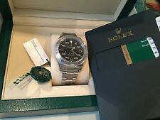 Rolex NIB Air-King 116900 40MM Black Dial Gold Crown Box/papers