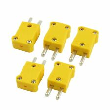 5Pcs Flat Male 2-Pin K Type Thermocouple Wire Connector AD