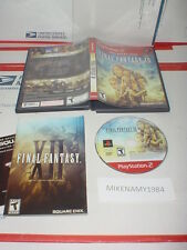 FINAL FANTASY XII game in case w/ manual (GH) for Playstation 2 PS2