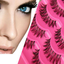 5 Pairs Glamour False Eyelashes Lashes Natural Long Thick Extension Make up HOT