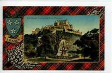 (Gt210-431) FRASER TARTAN, Ross Fountain,  EDINBURGH Castle c1910 Unused  EX
