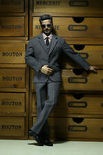 POPTOYS X22 1/6 Scale Men's Stripe Suit C in Grey For Hot Toys TTM21 Body