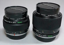 Olympus OM Zuiko Auto-Macro 50/2 & 90/2 Lens - Match Pair Same Serial No.