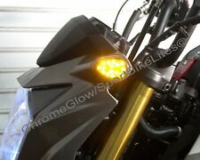 Kawasaki Z125 Pro Front LED Turn Signal Kit; Flush Mount - Smoked Lens