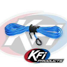 """KFI Products ATV Synthetic Winch 1/4"""" x 50' Plow Cable Rope - BLUE - SYN25-B50"""