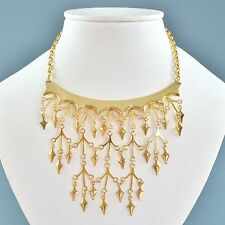 Vintage Necklace CORO VENDOME 1970s Goldtone Bib Drops Bridal Jewellery