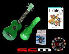 UKE PACK U30G GREEN SOPRANO UKULELE +GIG BAG +PLAY UKULELE TODAY DVD +TUNER