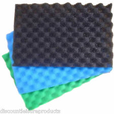 "Garden Fish Pond Media Filter Foam Sponge Set 17"" X 11"" Pads Fine/Medium/Coarse"