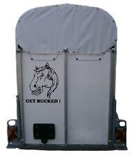 Se suivent pas! horse box trailer voiture autocollant équestre poney