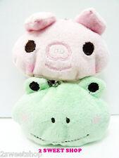 Japan ~ Harajuku Tokyo Cute Kawaii Frog & Pig Cell Phone Strap SET -1