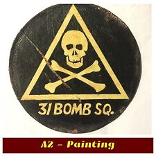 WW2 Hand Painted Antiqued Finish 31st Bomb Sqd Leather Patch A2 Flying Jacket