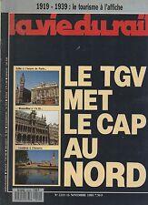 la vie du rail N°2219 TGV lille bruxelles londres  1989