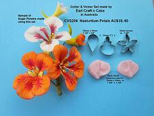 Nasturtium Cutters & Veiner Cake Decorating Sugar Flower Gum Paste Tools