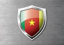 Cameroon flag shield sticker 3d effect quality 7 year water & fade proof