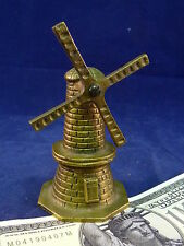 Dutch Windmill Bell Figurarative 4 1/2 inches Vintage Antique Brass
