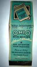"RARE OLD Vintage ""ADVERTISE WITH OHIO BOOK MATCHES"" matchbook.MADE IN USA"