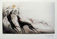 "LOUIS ICART ""COURSING II"" Signed Limited Edition Small Giclee Art"