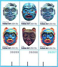 US STAMPS Sc# 1834 -37  Face Masks Indian Tribes