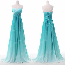 Strapless OMBRE Cocktail Evening Party Bridesmaid Wedding Prom Long Ball Dresses