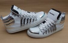 DSQUARED2 CHAIN MENS TRAINERS SNEAKERS £400+ BN GENUINE 43 - 9uk 9 SHOES HI-TOP