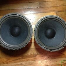 "Pair of 12"" fisher speakers 4 ohms  hi-fi for project or replace"