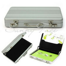 1pc Durable Aluminum Metal Briefcase Suitcase Business Name Card Case Holder UK