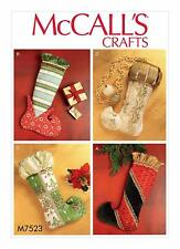 McCalls Crafts SEWING PATTERN M7523 Christmas Stockings In 4 Designs