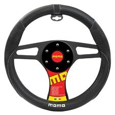 MOMO Black Car Steering Wheel Cover Suede Odorless