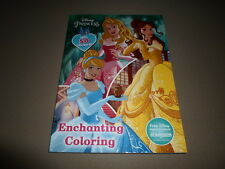 224 Page Disney Princess Enchanting Coloring Book~Stickers NOT Included, NEW