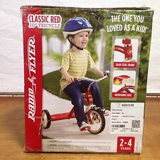 """RADIO FLYER # 34 10"""" RED CLASSIC STEEL TRICYCLE AGE 2-4"""